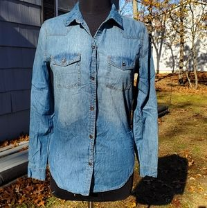 Mudd Chambray Button Down Shirt